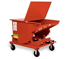 Self Dumping Hopper with optional lid and casters