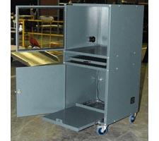 Deluxe Computer Cabinet w/Open Doors