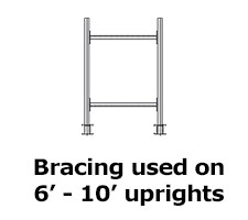 Medium Duty Meco Cantilever Rack Braces
