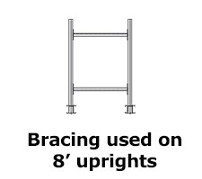 Heavy Duty Cantilever Rack Braces