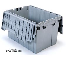 Grey Attached Lid Tote, model: 39120