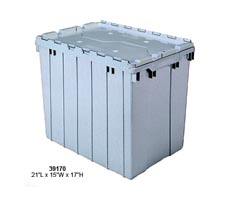 Grey Attached Lid Tote, model: 39170