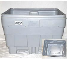 P-360 (30 cu ft) Deluxe Bulk Forklift Container - shown without lid