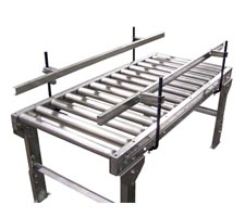 Heavy Duty Gravity Roller Conveyor with Stands and Optional Side Rails