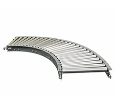 Light Duty Gravity Roller Curves - Aluminum