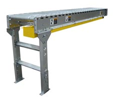 A Single (Slaved) Straight Section of Lineshaft Conveyor