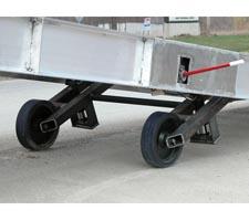 Hydraulic Lift with Ramp Raised