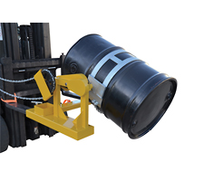 Fork Mounted Drum Dumper/Rotator (front view)