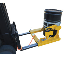 Fork Mounted Drum Dumper/Rotator (rear view)