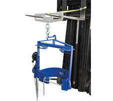 Hoist Mounted Drum Carrier/Rotator on A Forklift