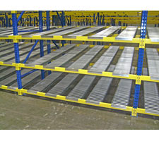 BeamTrack Installed in Pallet Rack
