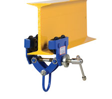 1,000 pound capacity Quick Install Trolley on I-Beam
