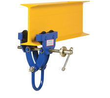 4000 pound capacity Quick Install Trolley on I-Beam