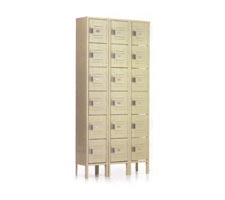3-Wide, 6-High Box Lockers