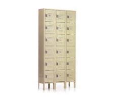 3-Wide, 6-High Box Lockers