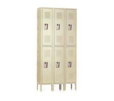 3-Wide Double Tier Lockers