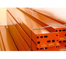Pallet Rack Beam - Connectors End View