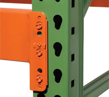 Pallet Rack Upright & Beam conection closeup