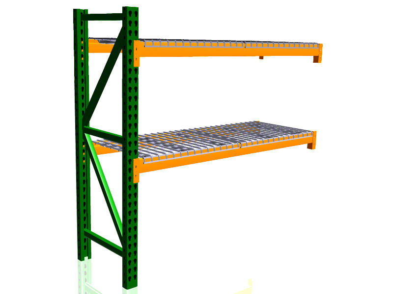 "SJF Material Handling Pallet Rack Adder Kit w/Wire Deck - 42"" Deep x 96"" Wide x 120""H at Sears.com"