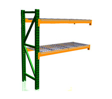 Pallet Rack Adder Unit with wire decks