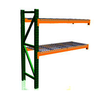 Pallet Rack Add-On Kit with wire decks
