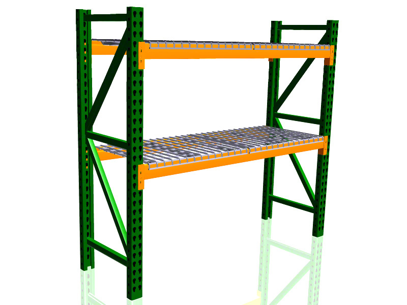 "SJF Material Handling Pallet Rack Starter Kit w/Wire Deck - 48"" Deep x 120"" Wide x 144""H at Sears.com"