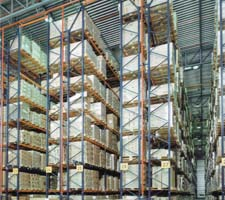 Double-Deep Rows of Mecalux Pallet Rack