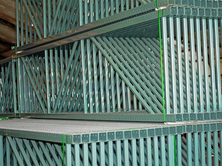 Pallet Rack Uprights In Stock at SJF