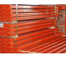 A stack of renewed pallet rack beams