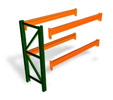Pallet Rack Adder with 4 beams and 1 upright