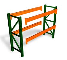 Pallet Rack Starter with 4 Beams and 2 Uprights