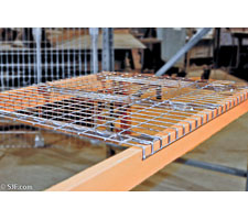 Closeup of Wire Mesh Deck in Pallet Rack