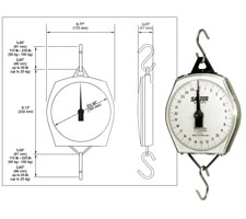 Hanging Scale with ABS Plastic Housing