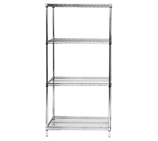 Chrome Wire Shelving Starter Unit