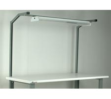 1 Pair - Angled Supports - With Overhead Light