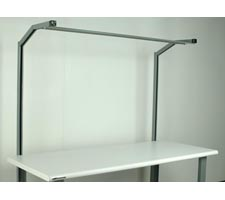 1 Pair - Angled Supports - No Overhead Light
