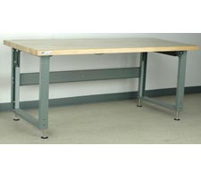 Maple Top Electric Adjustable Height Workbench