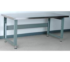 Stainless Steel Top Electric Adjustable Height Workbench