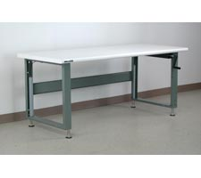 Bullnose Laminate Top Hand-Crank Adjustable Height Workbench