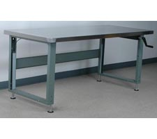 Stainless Steel Top Hand-Crank Adjustable Height Workbench