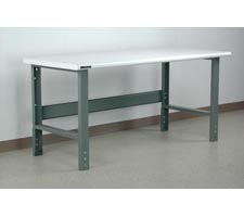 Bullnose Laminate Top Manually Height Adjustable Workbench