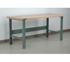 Maple Top Manually Height Adjustable Workbench