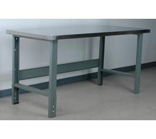 Staniless Steel Top Manually Height Adjustable Workbench