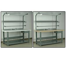 Easy Street Preconfigured Packing Station - Bullnose Laminate and Maple Top