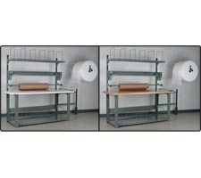WrapMaster Preconfigured Packing Station - Bullnose Laminate and Maple Top