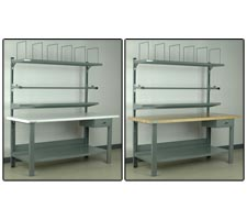 Highrise Preconfigured Packing Station - Bullnose Laminate and Maple Top