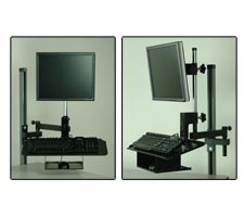 Articulating Monitor Arm with Keyboard and Mouse Tray