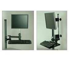 Articulating Monitor Arm with Keyboard Tray