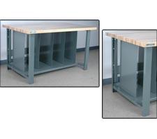 Solid Panel Dividers for Full Bottom Shelf
