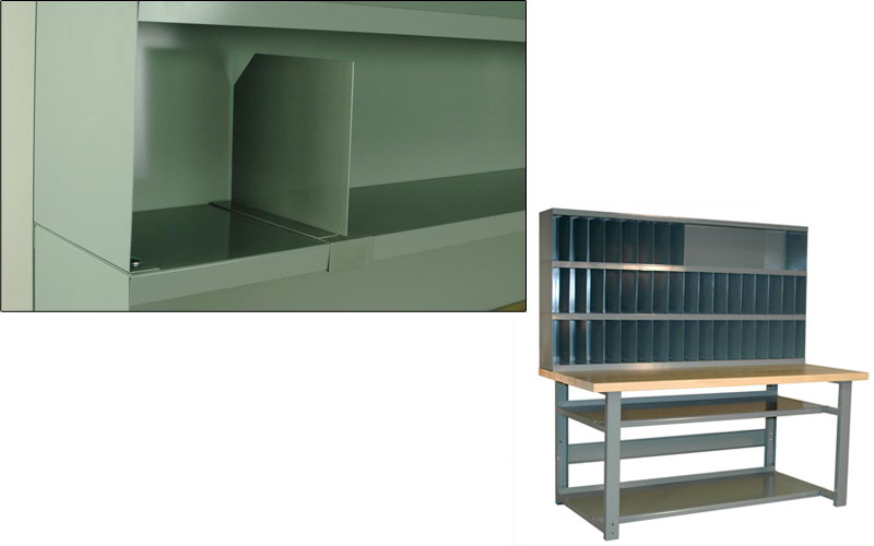 Riser Shelves Amp Dividers For Workbenches Sjf Com